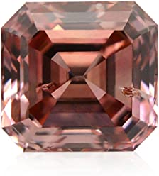 0.35Cts Fancy Deep Pink Loose Diamond Natural Color Emerald Cut GIA Certificate