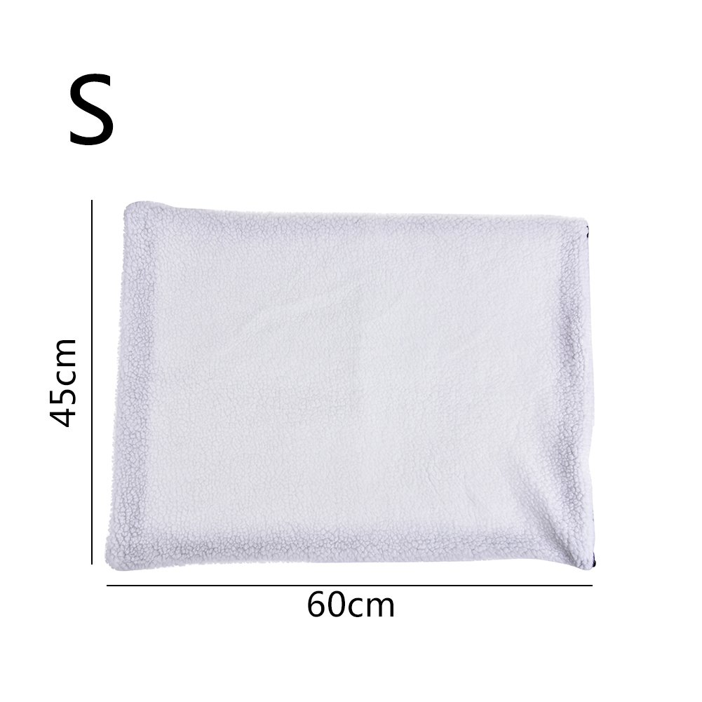 per Pet Self Heating Pad with Washable Faux Lamb Hair Cover Warming Mat Heated Blanket for Dog Cat Small Animals-S