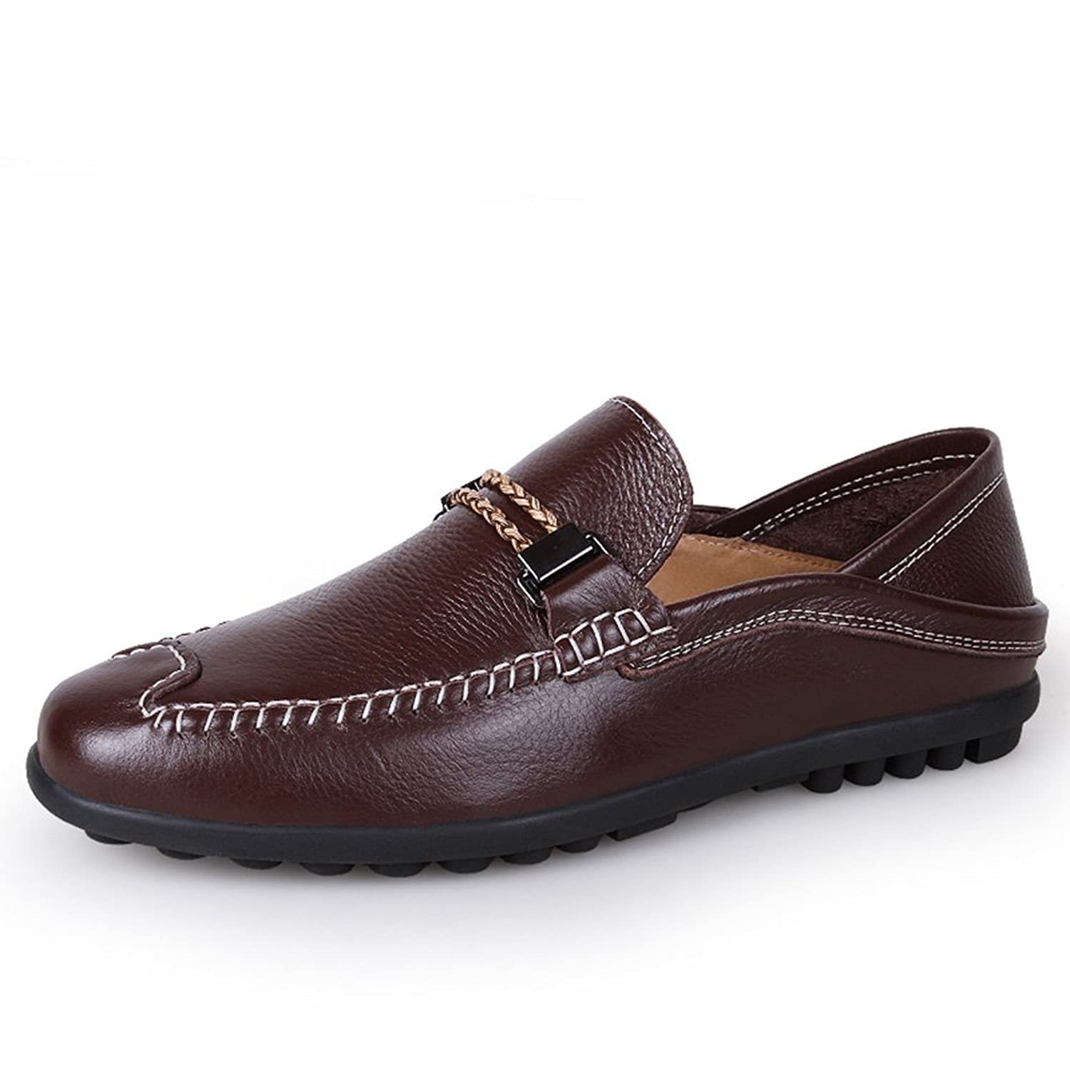 aaae464bff3f Shenn Men s New Designed Slip on Casual Comfort Leather Loafers Shoes  delicate