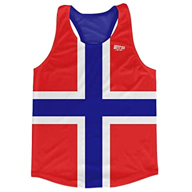 a8c73bb65c4d45 Norway Country Flag Running Tank Top Racerback Track and Cross Country  Singlet Jersey