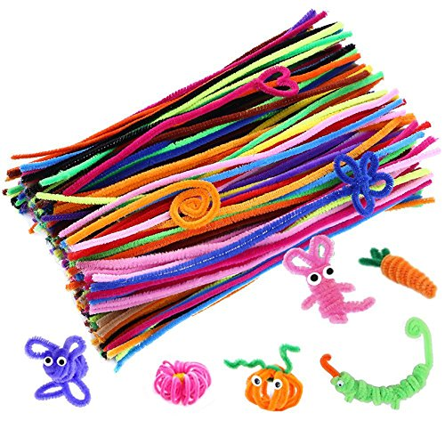 Caydo Pipe Cleaners Chenille Stem, Assorted Colors, 200 Piece