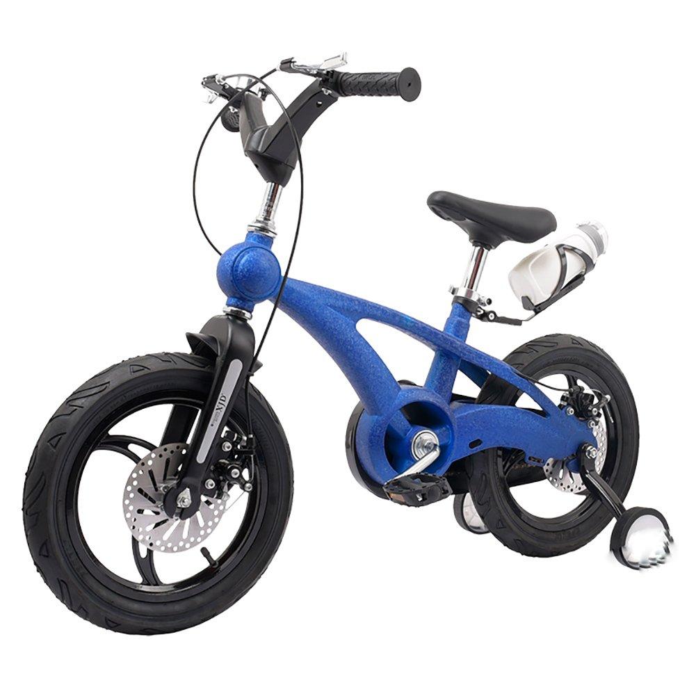 スクラブベビーマウンテンキャリッジボーイズ&ガールズキッズバイク14 16インチ3-4-6歳子供用自転車ワンホイールブルーオレンジレッドブラックゴールド B07DYCQNKR 16 inch|青 青 16 inch