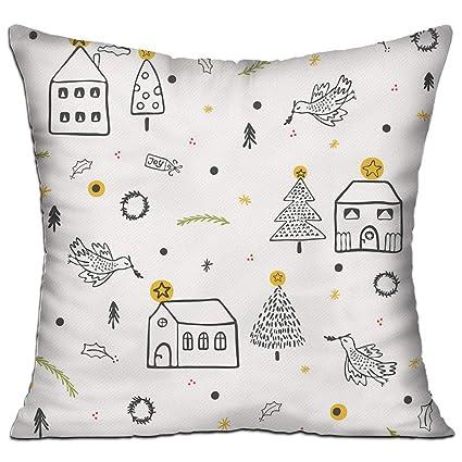gnzyq white christmas village church warm hold pillow cute cushions cover couch pillow cover sofa office