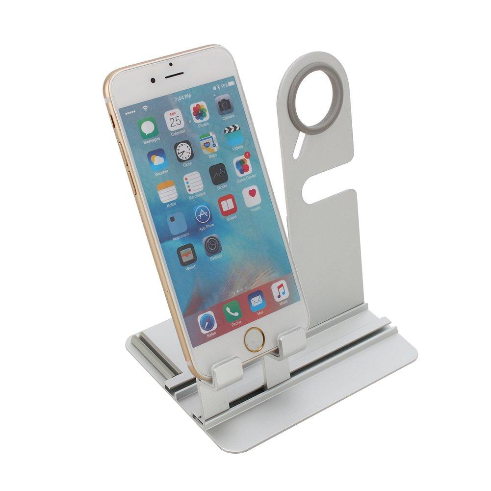 アルミApple Watchスタンド充電ドックステーションホルダースタンドfor Apple Watch and Iwatch Iphone 5 5s 6 6s B074QGFDBC シルバー シルバー