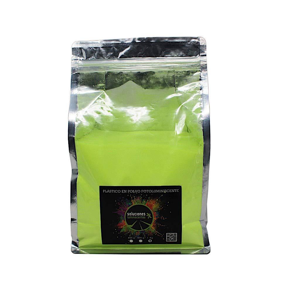 Clase Amarillo Color Plastico en polvo luminiscente de colores Potencia L 250 grs Capacidad