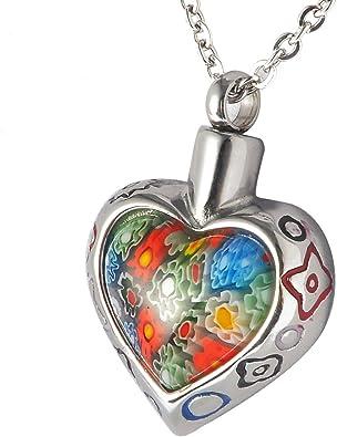 collier coeur acier inoxydable