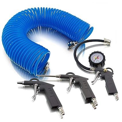 4 teiliges aire comprimido juego de accesorios para compresor de aire de presión de los neumáticos