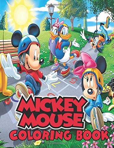 Cartoon Disney Mickey Mouse Coloring Pages Printable Black und ... | 500x387
