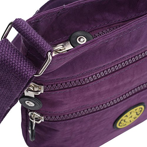 Pocket Shoulder Solid Zipper Purple SALLY Handbag Multi Handbags Women Fashion YOUNG qw4U80PH