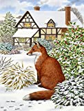 Cheap Caroline's Treasures ASA2046CHF Fox by The Cottage Canvas House Size Flag, Multicolor, Large