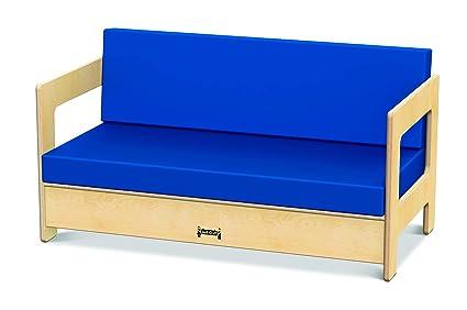 Jonti-Craft 3751JC Living Room Couch, Blue