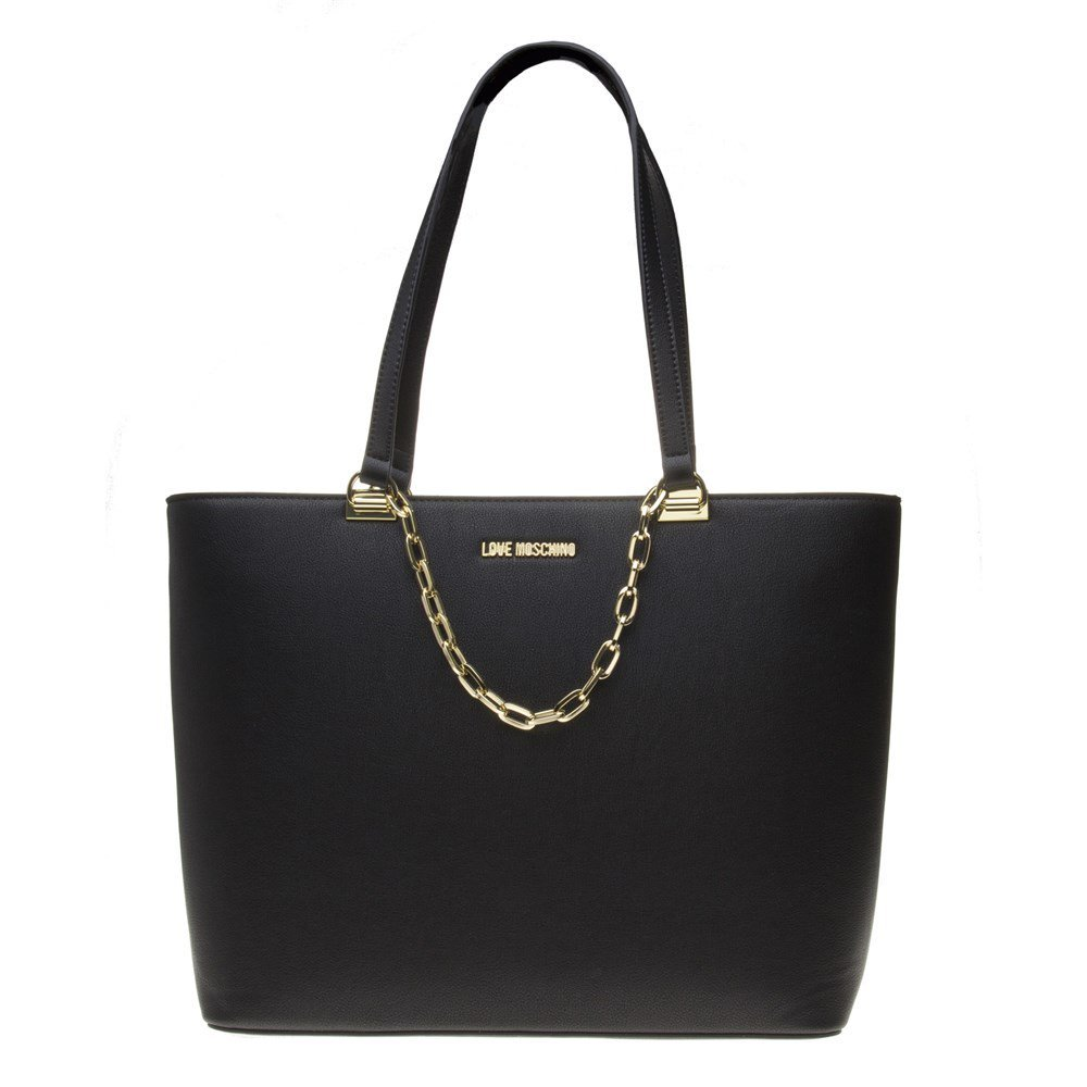 Moschino Love Moschino Women's Chain Detail Tote Bag One Size Black
