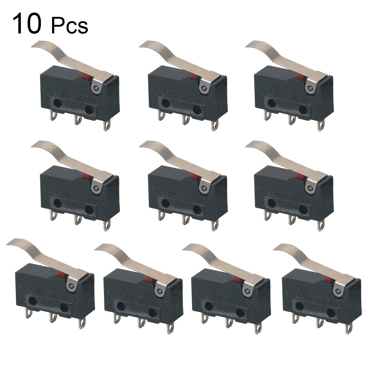 Loweryeah Mini Micro Switch k11 Curved Handle Micro motion250V 5A 10pcs