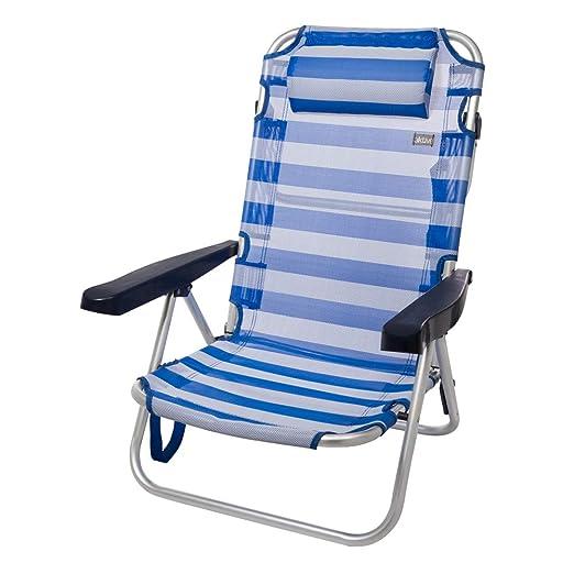 Aktive 53955 Silla Plegable multiposición Aluminio Beach, 108 x 60 ...