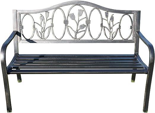 Panchine In Ghisa Da Giardino.Panchina Da Giardino In Metallo Con Design In Ghisa Floreale