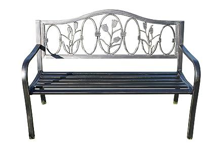 Panchine Da Giardino In Ghisa : Panchina da giardino in metallo con design in ghisa floreale