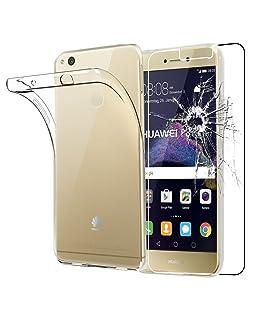 ebestStar - Cover Huawei P8 Lite (2017) Custodia Trasparente Silicone Gel TPU Protezione Morbida e Sottile, Trasparente + Pellicola Vetro Temperato [Apparecchio: 147.2 x 72.9 x 7.6mm, 5.2'']