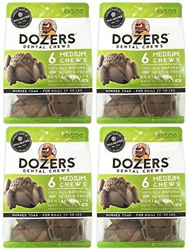 Dozers Dental Dog Chews – 100 All Natural Ingredients – Gluten Free Dental Healthy Delicious Dog Treat – Promotes Fresh Breath