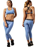 B.BANG Women's Basic Comfortable Cross Strap Camisole Sports Bras and Pant Sets
