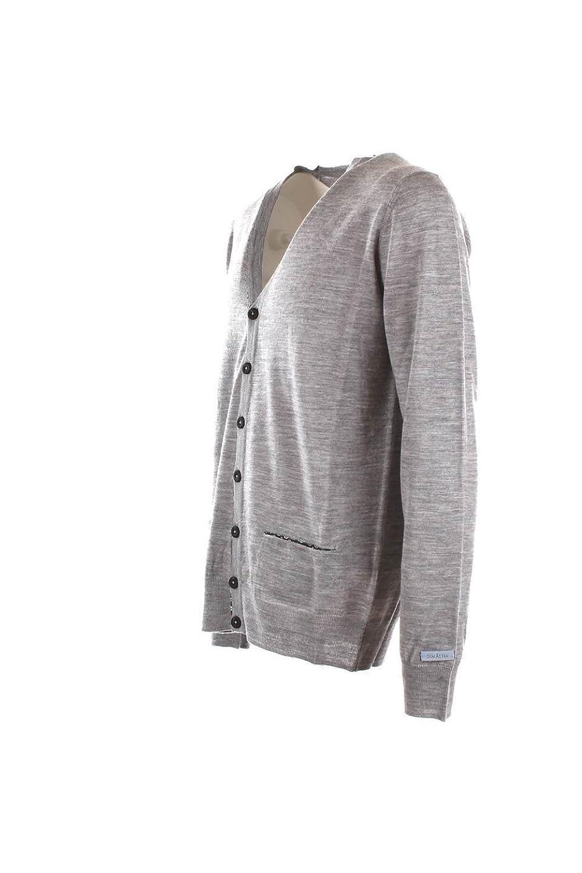 Cardigan Uomo Dimattia 54 Grigio Francesco Autunno Inverno 2015/16:  Amazon.co.uk: Clothing