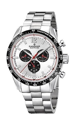 Candino Reloj Cronógrafo para Hombre de Cuarzo con Correa en Acero Inoxidable C4682/1: Amazon.es: Relojes