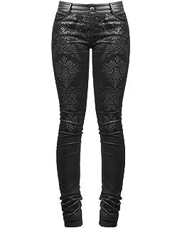 85b0d469fb Punk Rave Victoriana Damask Skinny Jeans Trousers Pants Black Goth  Steampunk VTG