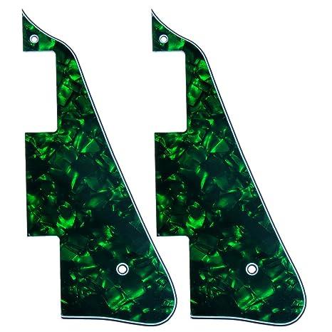 2pcs nueva verde Pearl guitarra eléctrica golpeador Para Gibson Les Paul reemplazo guitarra
