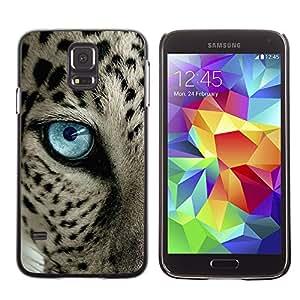 Ziland/Diseño delgado funda Shel/Black Spots Blue Eye Cat/Samsung Galaxy S5SM-G900