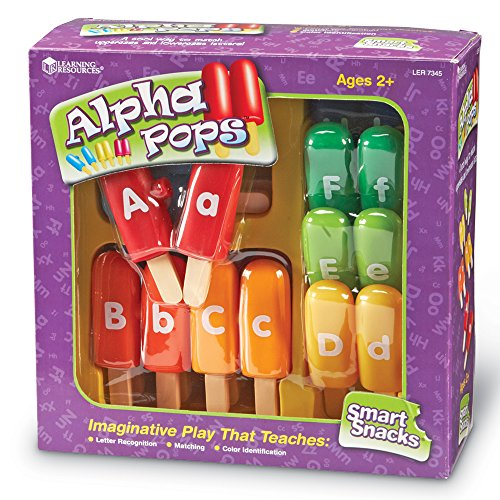 61GmVDbfXcL - Learning Resources Smart Snacks Alpha Pops, 26 Pieces