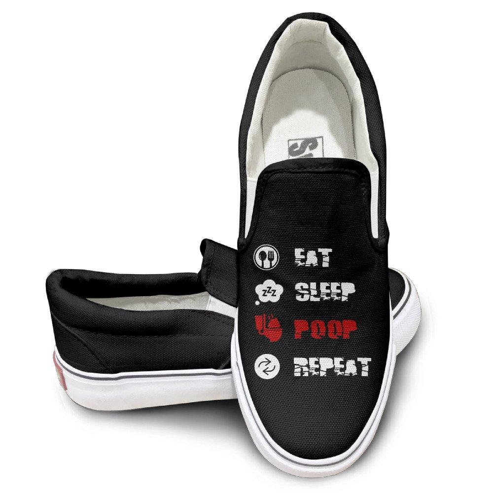3babd39c1a hot sale Unisex Eat Sleep Poop High Top Sneakers Canvas Shoes Fashion  Sneakers Shoes Vintage Black