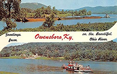 Owensboro Kentucky Ohio River Multiview Greeting Vintage Postcard K65895