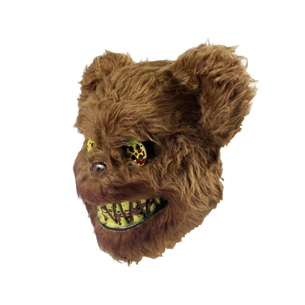 Adults Doctor Coat Wolf Man Latex Mask with Fake Blood Tube Halloween Fancy Dres