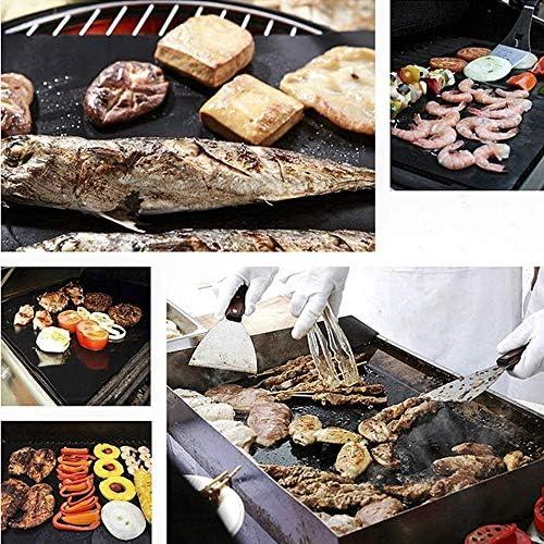 Tapis Barbecue Cuisson 2PCS réutilisable antiadhésif BBQ Grill Mat 0.2mm épais Barbecue Grill Tapis Cuisine et pâtisserie et micro-ondes Four Grill Feuille (Size : 2 Pieces)