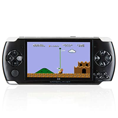 Mingbao 32Bit 10000 Games Built-in Portable Handheld Video Game Console Player 8GB with HD Camera (Black): Toys & Games