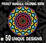img - for Black Background Pocket Mandala Coloring Book: 50 Unique Designs book / textbook / text book