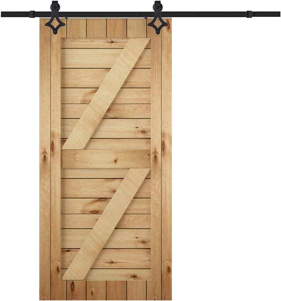 happg borde – Herraje para 6 ft Flores Tipo de puerta corredera colgantes Carril Sistema de puerta corredera puerta de hardware de Kit para puertas correderas puertas interiores: Amazon.es: Bricolaje y herramientas