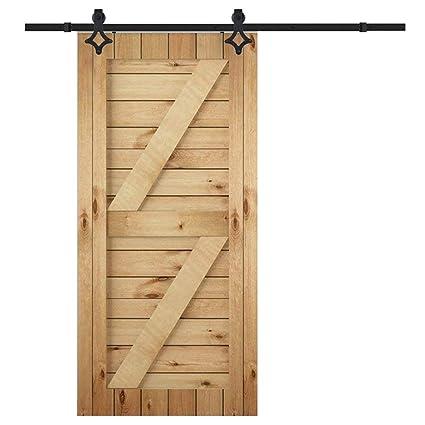 happg borde – Herraje para 6 ft Flores Tipo de puerta corredera colgantes Carril Sistema de