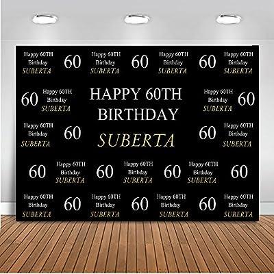 Mehofoto - Fondo Personalizado para 50 años 60 años 70 años 80 cumpleaños con Nombre Personalizado, Estilo de Edad, Color y Material para Fotos de 7 x ...