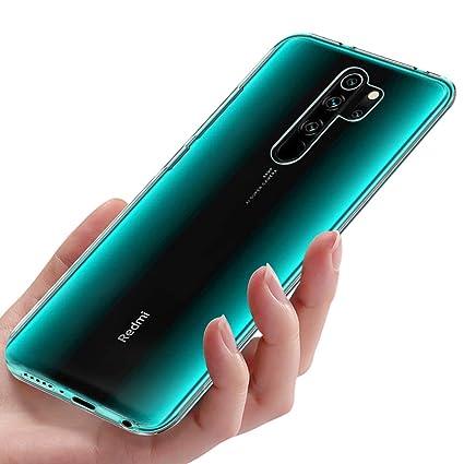 Migimi Funda Xiaomi Redmi Note 8 Pro, Carcasa Silicona Gel TPU Transparente Ultra-Delgado Anti-Choque Bumper Case Caso para Teléfono Redmi Note 8 Pro ...
