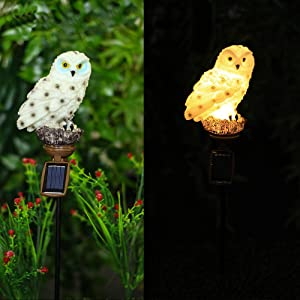 Starry Love Solar owl Light, 2 Pack owl LED Light, Garden Yard Lawn Landscape Lighting Decoration