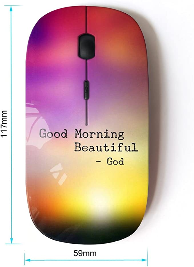 KOOLmouse Optical 2.4G Wireless Computer Mouse BIBLE VERSE GIVE ALL YOUR CARES TO THE LORD