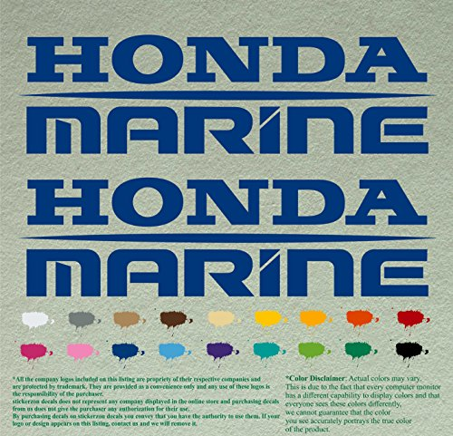 Pair of Honda Marine Boats Outboards Decals Vinyl Stickers Boat Outboard Motor Lot of 2 (24