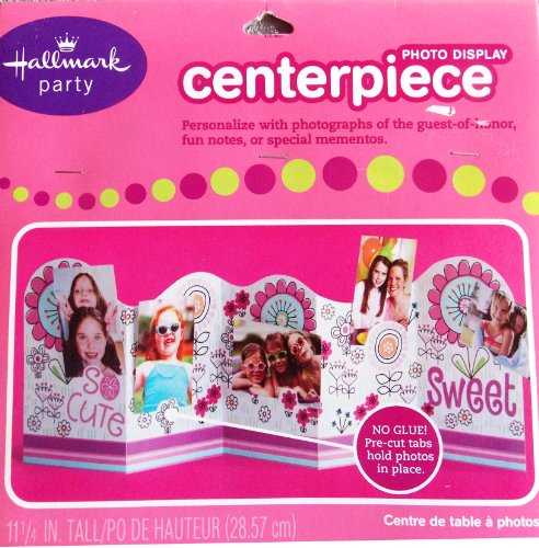 Pink Photo Display Centerpiece for Girl's Party