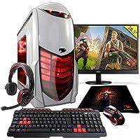 Pc Gamer G-fire htg-308 Amd A6 7400k 8gb (radeon R5 2gb Integrada) 1tb monitor 18,5 - Vermelho