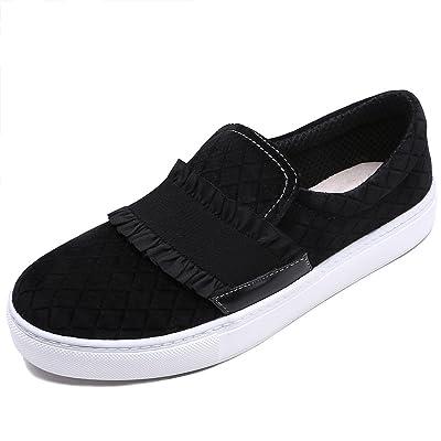 TONGPU Women's Casual Comfy Slip On Flat Shoes