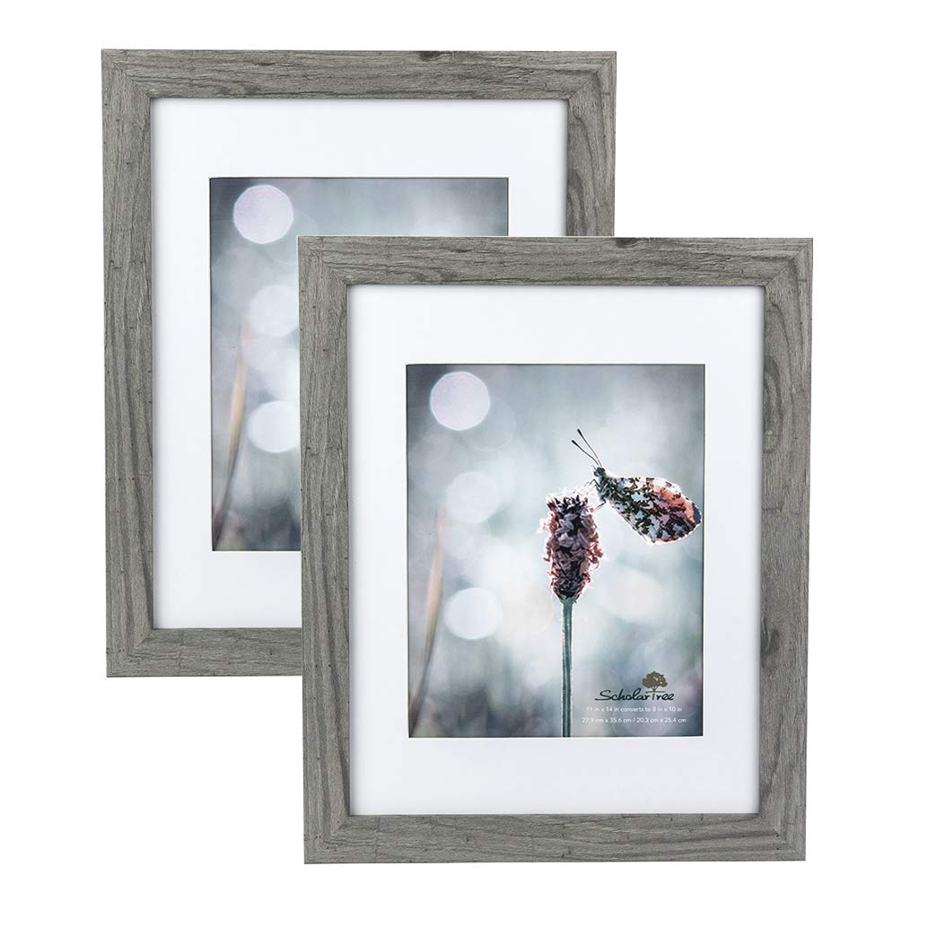 Scholartree Wooden Photo Picture Frame 5x7 3P 8x10 2P 11x14 2P (Style 2, 11x14 inches 2P) by Scholartree