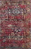 Premium Vintage Traditional & Modern Rugs Rust Red 5′ x 8′ FT St.Patrick Collection Area Rug