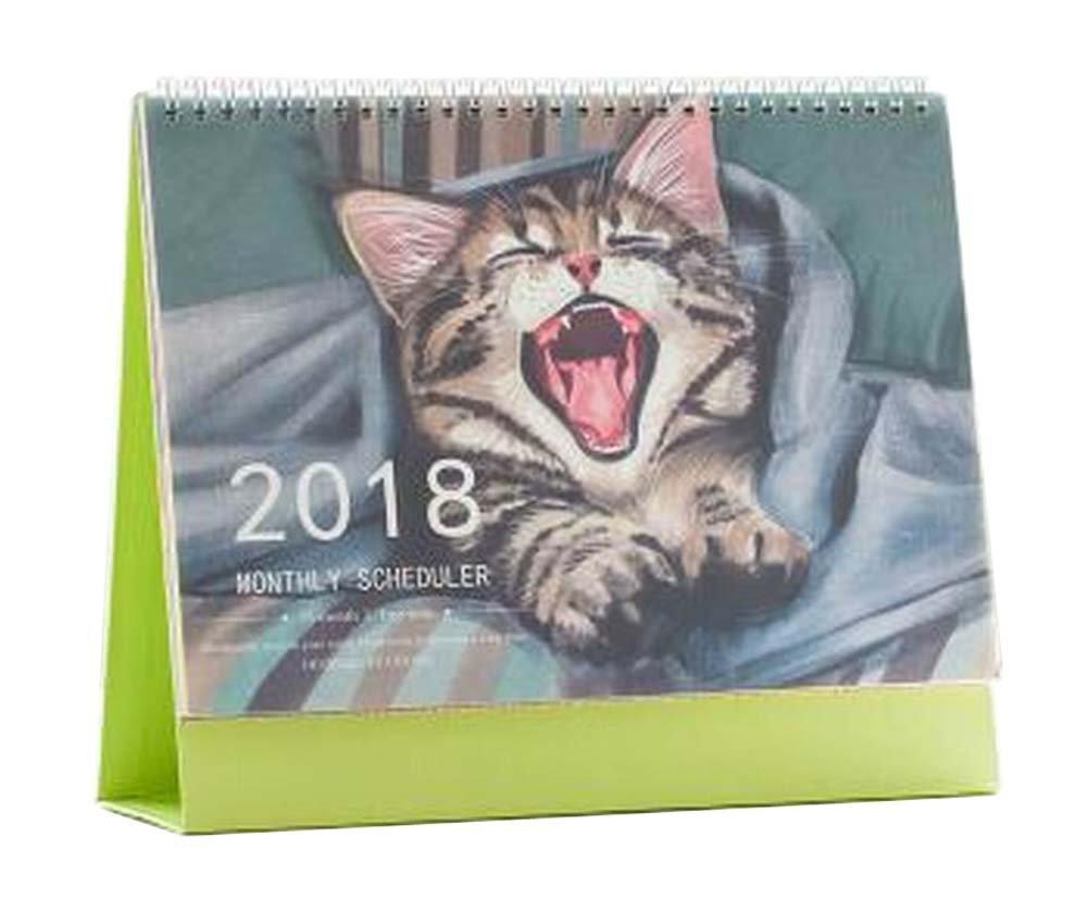 [ J ] 10月12月に2017年2018デスクカレンダーデスクトップカレンダースケジュール   B016JUZ6K8