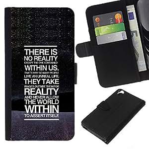 EJOY---La carpeta del tirón la caja de cuero de alta calidad de la PU Caso protector / HTC Desire 820 / --No hay realidad mensaje profundo