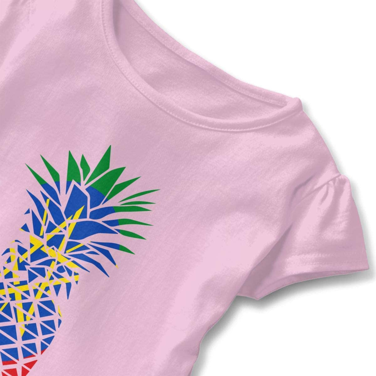 Ethiopia Flag Pineapple Toddler Baby Girl Short Sleeve Graphic Tee Tops